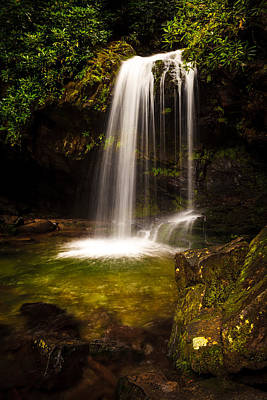 Photograph - Grotto Falls by Keith Allen