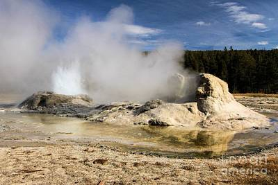 Photograph - Grotto Geyser by Adam Jewell
