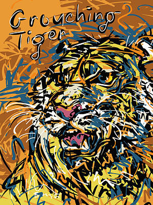 Grouching Tiger Art Print