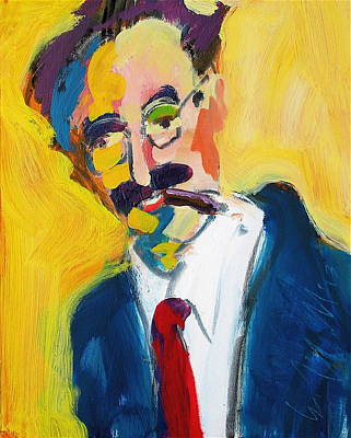 Painting - Groucho by Les Leffingwell