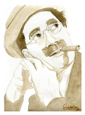 Groucho Marx Painting - Groucho Marx by David Iglesias