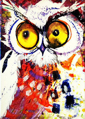 Painting - Groucho Owl by Laurel Bahe