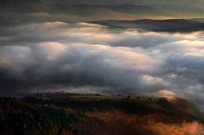Art Print featuring the photograph Ground Clouds by Graham Hawcroft pixsellpix