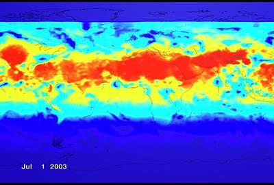 2000s Photograph - Ground Level Uv Exposure by Nasa/goddard Space Flight Center Scientific Visualization Studio