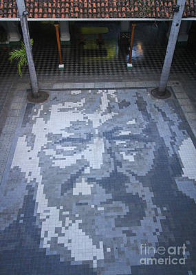 Photograph - ground mosaic in the cultural center of Granada Nicaragua by Rudi Prott