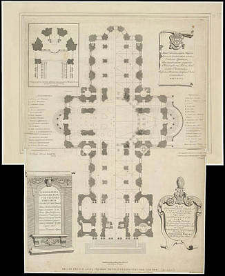 Ground Plan Of St. Paul's Catherdral Art Print by British Library