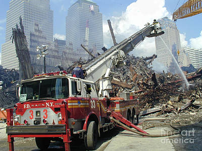 Print featuring the photograph Ground Zero-1 by Steven Spak