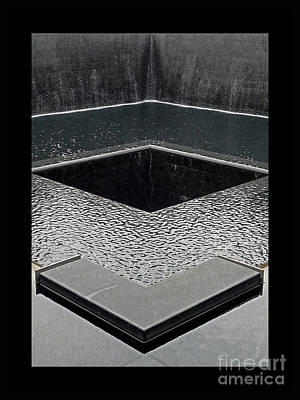 The Twin Towers Of The World Trade Center Photograph - Ground Zero 9-11 Memorial by Joseph J Stevens