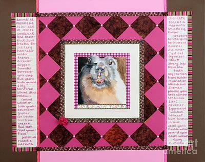 Groundhog Mixed Media - Groundhog Speaks by Laura Joseph