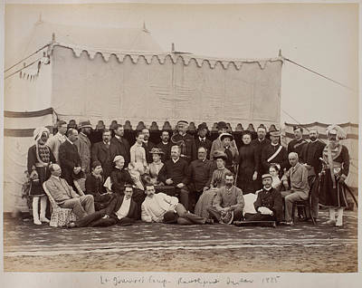 Aristocrat Photograph - Group At The Lieutenant-governor's Camp by British Library