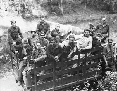 The New Deal Photograph - Group Of Civilian Conservation Corps by Stocktrek Images