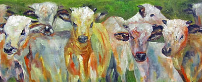 The Gathering, Cattle   Art Print