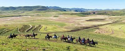 Lesotho Photograph - Group Of Horsemen Riding by Panoramic Images