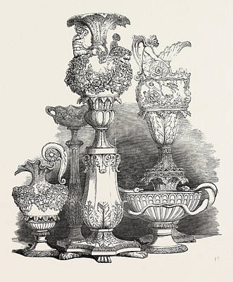 Maltese Drawing - Group Of Maltese Vases by English School