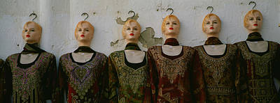 Libya Photograph - Group Of Mannequins In A Market Stall by Panoramic Images
