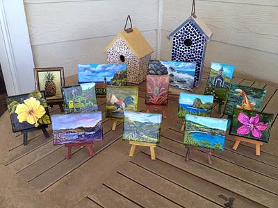 Painting - Group Of Miniatures by Darice Machel McGuire