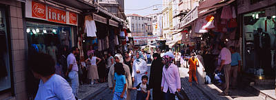 Bazaar Photograph - Group Of People In A Market, Grand by Panoramic Images