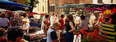 Group Of People In A Street Market Print by Panoramic Images