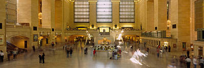 Grand Central Station Photograph - Group Of People In A Subway Station by Panoramic Images