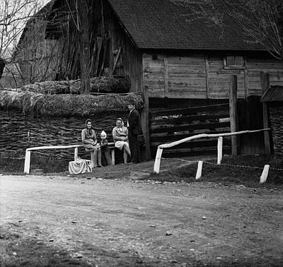 Photograph - Group Of People In Romanian Countryside by Emanuel Tanjala