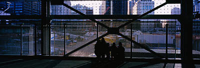 Ground Zero Photograph - Group Of People Looking At A Memorial by Panoramic Images