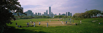 Chicago Photograph - Group Of People Playing Baseball by Panoramic Images