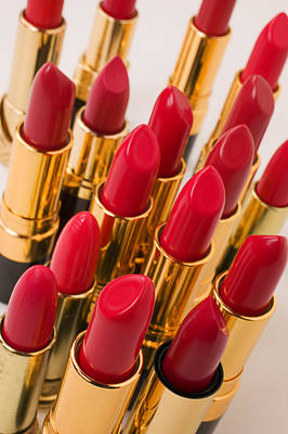 Group Of Red Lipsticks Art Print
