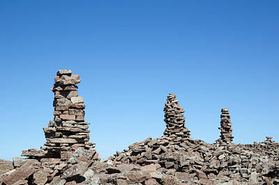 Photograph - Group Of Rock Piles by Kennerth and Birgitta Kullman