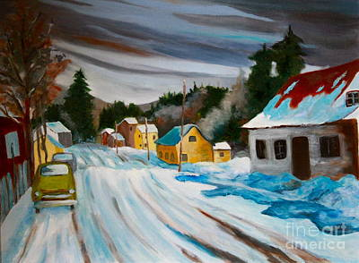 Laurentians Painting - Group Of Seven Snowy Laurentian Homestead  by Sherrill McCall