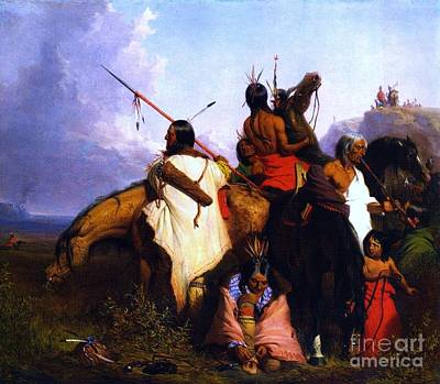 Dea Painting - Group Of Sioux by Roberto Prusso