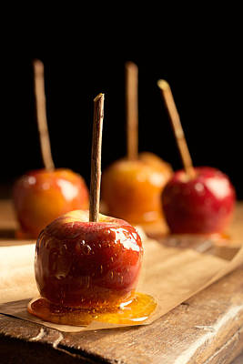 Group Of Toffee Apples Art Print by Amanda Elwell