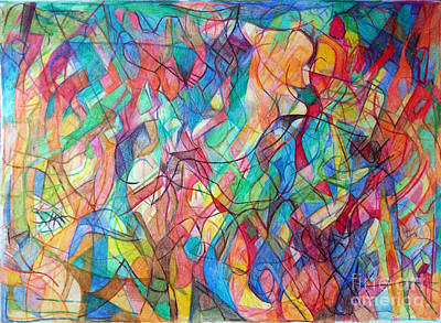 Creativity Drawing - Tikkun Clali 1 by David Baruch Wolk