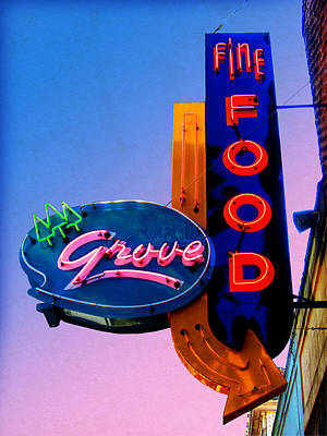 Photograph - Grove Fine Food by Gail Lawnicki
