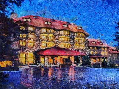Grove Park Inn Art Print by Elizabeth Coats