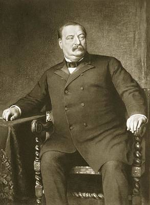 Statesmen Drawing - Grover Cleveland by American School