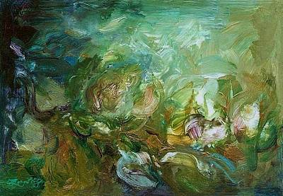 Cycles Painting - Growing by Mary Wolf
