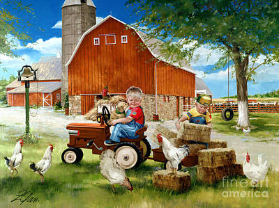 Heartland Painting - Growing Up Country by Donald Zolan