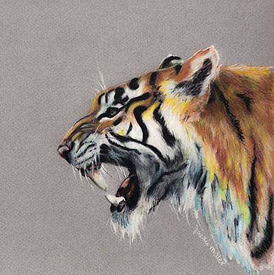 Wall Art - Painting - Growl by Jackie Little Miller