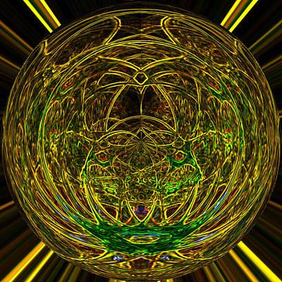 Glow In The Dark Painting - Grown Sphere by Twilight Vision