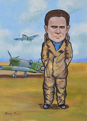 Print featuring the painting Grp. Capt. Douglas Bader by Murray McLeod