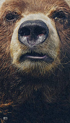Digital Art - Gruff by Jim Pavelle