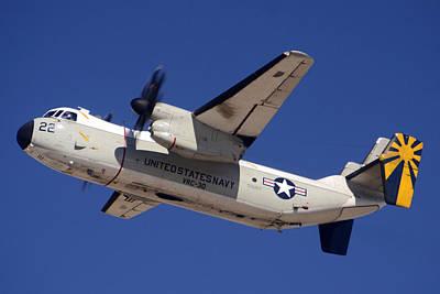 Greyhound Photograph - Grumman C-2a Greyhound Buno 162140 Phoenix-mesa Gateway March 1 2013 by Brian Lockett
