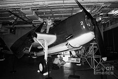 Grumman Eastern Aircraft Tbm 3e Tbm3e Avenger On The Hangar Deck At The Intrepid Air Space Museum Art Print by Joe Fox