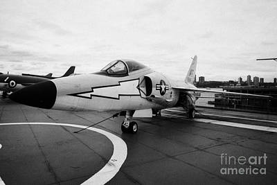 Grumman F11f Tiger On Display On The Flight Deck At The Intrepid Sea Air Space Museum Art Print