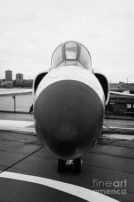 Grumman F11f Tiger On Display On The Flight Deck At The Intrepid Sea Air Space Museum New York Art Print by Joe Fox