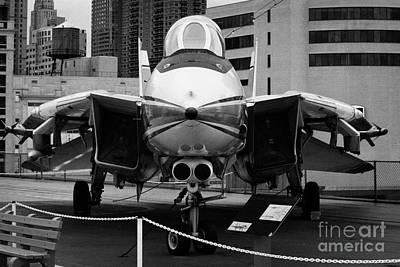Grumman F14 On The Flight Deck Of The Uss Intrepid At The Intrepid Sea Air Space Museum Art Print