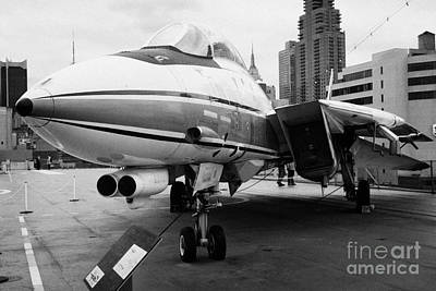 Grumman F14 Tomcat On The Flight Deck Of The Uss Intrepid New York Usa Art Print