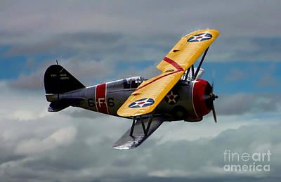 F3f Photograph - Grumman F3f-2 by Tommy Anderson