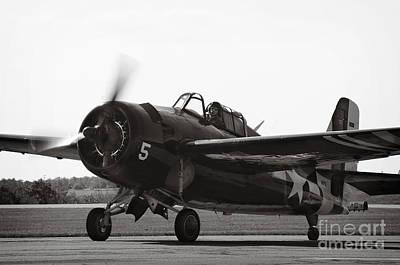 Ww11 Aircraft Photograph - Grumman Fm-2 by Jim  Calarese
