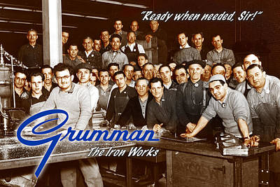Digital Art - Grumman Iron Works Shop Workers by The Grumman Store